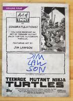 2019 TOPPS ART OF TMNT BLUE PARALLEL AUTO CARD JIM LAWSON #07/10 *NINJA TURTLES*