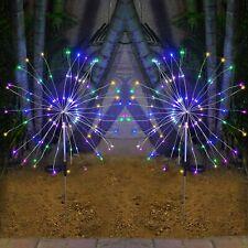 2PCS Fireworks LED Fairy String Lights Starburst Solar Xmas Garden Night Lamp AU