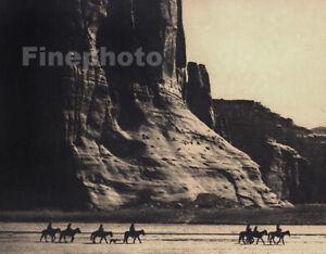 1900/72 Vintage EDWARD CURTIS Native AMERICAN INDIAN Canyon De Chelly Photo Art