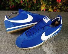 BNWB y Genuino Nike ® Classic Cortez Gimnasio Azul/Blanco Retro Zapatillas Uk Size 11