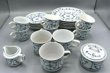 Tee-/ Kaffeeservice Jäger Eisenberg Original Indisch Blau SAKS Strohblume DDR