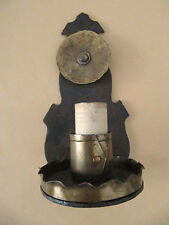 VINTAGE SPANISH REVIVAL IRON BRASS WALL MOUNT LIGHT SCONCE 1930'S