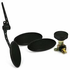 Oval Firewall Mnt Gas Pedal, Lg Oval Brake/Clutch/Dimmer Pad ~  Black Billet rat