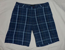 O'NEILL Mens 36 Triumph Blue Gray Plaid Casual Bermuda Shorts Skater Punk Surf