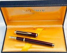Waterman Ideal Fountain Pen Burgundy Laque 18k Gold Nib France - Boxed