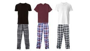 Mens Short Sleeve Pyjama Set Pj T-Shirt Pyjamas Loungewear Nightwear Sleepwear