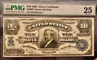 1908 $10 silver certificate PMG paper money guarantee very fine 25 FR number 303