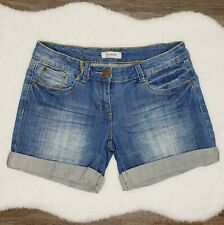 Denim Life by Pimkie Women's Blue Washed Jeans Shorts Size 10 UK/8 USA Pre-owned