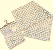 Brand new in pack Snuggle Baby wrap/blanket in grey with blue circles 75 x 100cm