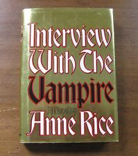INTERVIEW WITH THE VAMPIRE by Anne Rice -  1993 HCDJ  1st/6th - horror movie