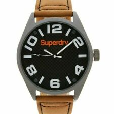 New Mens Gents SUPERDRY Military Tan Brown Leather Watch SYG192TBA Gift RP£89.99