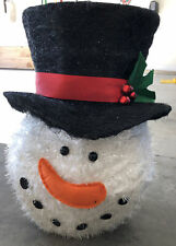 NEW Snowman Christmas Tree Topper Top Hat Cracker Barrel Holiday Decor Large 16""