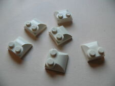 Lego 6 brick courbes blanches set 7646 4840 71006 / 6 white  brick modified