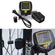 Waterproof Wireless Cycle Bicycle Bike LED Computer Speedometer Odometer Meter