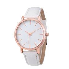 Womens Watch Stainless Steel Faux Leather Analog Quartz Girls Dial Wrist Watch