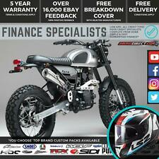Bullit Hero 50 50cc Retro Scrambler Supermoto Road Bike Finance & Delivery