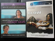 WHAT'S EATING GILBERT GRAPE? & BLOW JOHNNY DEPP LEONARDO DICAPRIO REGION 1 DVD