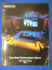 ONKYO TX-DS989 VER 2 TX-DS898 SALES BROCHURE ORIGINAL FACTORY ISSUE 2002