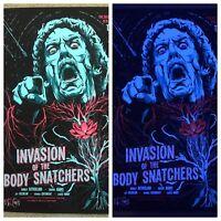 Invasion Of The Body Snatchers BlackLight Print Poster Mondo Jaren Hemphill