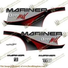 Mariner 115hp Optimax - 2000 (Red) Outboard Decals 3M Marine Grade