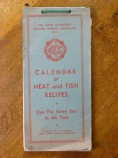 Calendar of Meat and Fish Recipes - South Australian CWA (3rd ed., 1956)