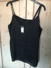 New Look Curves Bnwt Beautiful Black Silky Evening Top Size 22 £12.99