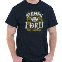 Strong With Lord Jesus Christian Religious Short Sleeve T-Shirt Tees Tshirts