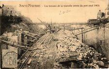 CPA  Saint-Nazaire - Les Travaux de la nouvelle entrée du port (mai 1903(222179)