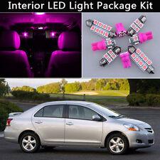 6PCS Pink LED Interior Car Light Package kit Fit 2007-2012 Toyota Yaris Sedan J1