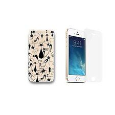 iPhone 5 / 5S / SE Coque transparente imprimée + 1 verre trempé - Multichats