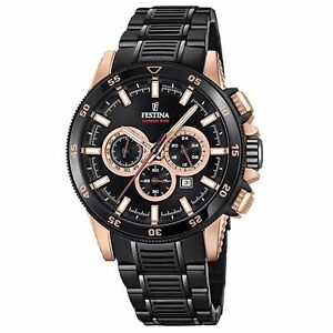 Festina F20354-1 Men's Chrono Bike Black Bracelet Wristwatch