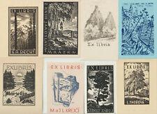 "23 Ex libris Art Deco ""Landscape"" Exlibris by V. artist / Europe"