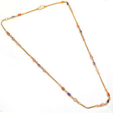 Chain 24 Inch Gold Plated Multicolour Stone & Polki Handmade Jewelry Set 6077
