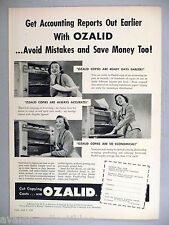 Ozalid Copier PRINT AD - 1953 ~~ photo copying machine