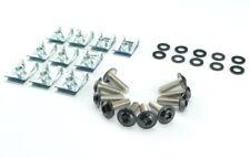 Moto revestimiento tornillos bornas clips 5mm tornillos acero inoxidable set negro