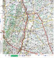 71 Tournus Mâcon Montrevel 1968 carte routière orig. (partie) Cluny Pont-de-Vaux
