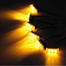 18 LED Emergency Vehicle Strobe Lights for Front Grille/Deck - Amber/Yellow