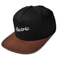 ELECTRIC Signature Men's Snapback Hat Cap Black NWT