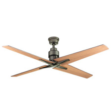 "56"" Large Airplane Ceiling Fan Remote Industrial Bronze Loft Cabin Mission Star"