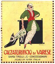 PUBBLICITA' 1915 CALZATURIFICIO VARESE SARDI TROLLI CAPPADONIA SCARPA MODA SHOE