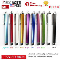 10pc Multi-Color Universal Stylus Touch Screen Pen for  iPhone iPad Tablet PC