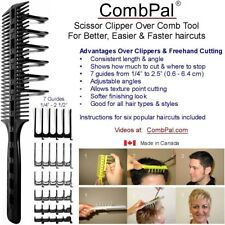 COMBPAL PRO HAIRCUTTING COMB TOOL, Scissor Clipper Over Comb Guide Best Styling