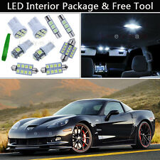 9PCS Xenon White LED Interior Lights Package kit Fit 2005-2013 Chevy Corvette J1