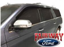 18 thru 19 Expedition OEM Ford Smoke Window Deflector Rain Guard 4-piece Kit NEW