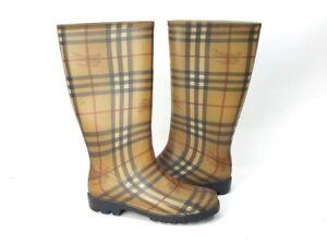 Burberry Haymarket Check Rainboots Rubber Boots Rain-Boots Shoes Size 39