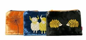 Lua Silk Velvet & Cotton Coin Purses / Cosmetic Bag Various Designs