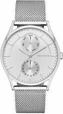 SKAGEN SKW6244 HOLST SILVER MESH STRAP MULTIFUNCTION DIAL MEN'S WATCH