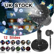 12 Patterns Projector Christmas Xmas LED Lights Lamp Party Outdoor Indoor Decor