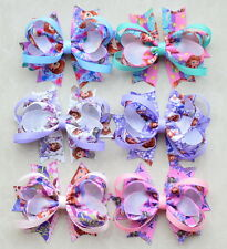 """6pc3.5"""" Girl Baby infant Character Boutique Hair Bow Hair Clip for headband lot"""
