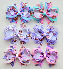 "6pc3.5"" Girl Baby infant Character Boutique Hair Bow Hair Clip for headband lot"
